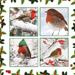 Four robins